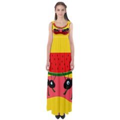 Ants And Watermelon  Empire Waist Maxi Dress by Valentinaart