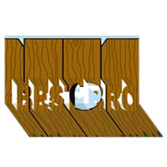 Over The Fence  Best Bro 3d Greeting Card (8x4)  by Valentinaart