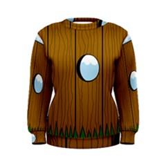 Over The Fence  Women s Sweatshirt by Valentinaart
