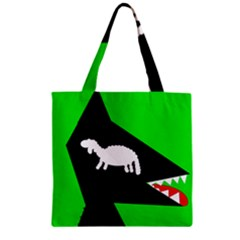Wolf And Sheep Zipper Grocery Tote Bag by Valentinaart
