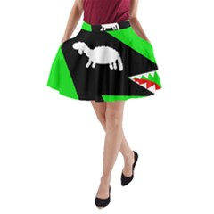 Wolf And Sheep A Line Pocket Skirt by Valentinaart