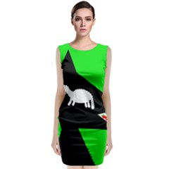 Wolf And Sheep Classic Sleeveless Midi Dress by Valentinaart