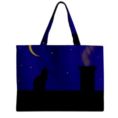 Cat On The Roof  Mini Tote Bag by Valentinaart