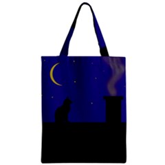 Cat On The Roof  Zipper Classic Tote Bag by Valentinaart
