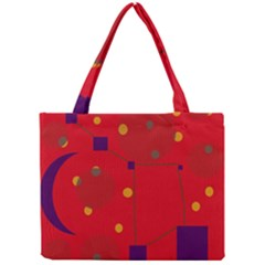 Red Abstract Sky Mini Tote Bag by Valentinaart
