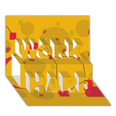 Yellow Abstract Sky Work Hard 3d Greeting Card (7x5)  by Valentinaart