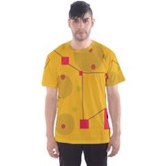Yellow Abstract Sky Men s Sport Mesh Tee by Valentinaart