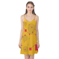 Yellow Abstract Sky Camis Nightgown by Valentinaart