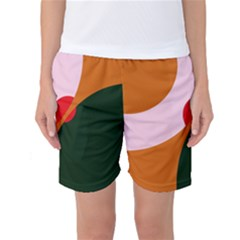 Decorative Abstraction  Women s Basketball Shorts by Valentinaart