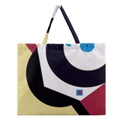 Digital Abstraction Zipper Large Tote Bag by Valentinaart