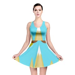 Abstract Landscape  Reversible Skater Dress by Valentinaart