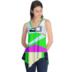 Abstract Landscape  Sleeveless Tunic by Valentinaart