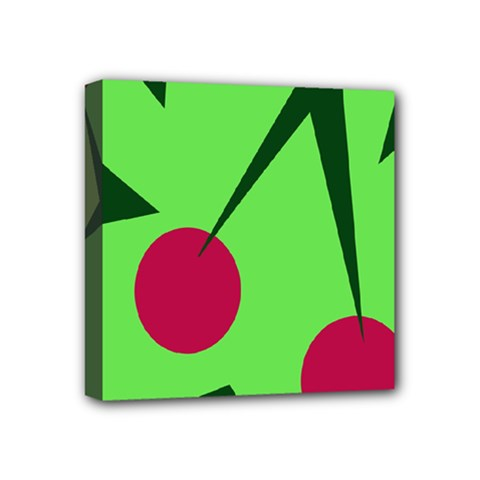 Cherries  Mini Canvas 4  X 4  by Valentinaart