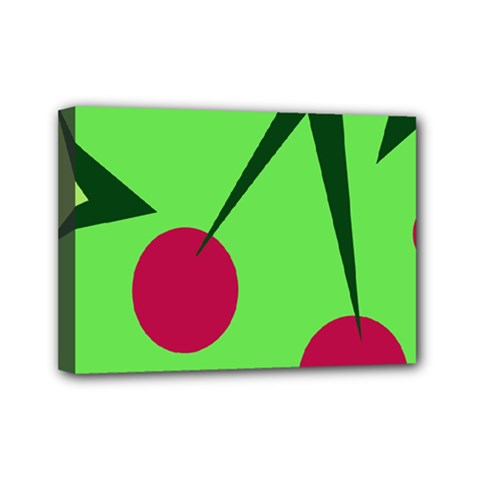 Cherries  Mini Canvas 7  X 5  by Valentinaart