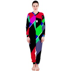 Abstract Fish Onepiece Jumpsuit (ladies)  by Valentinaart