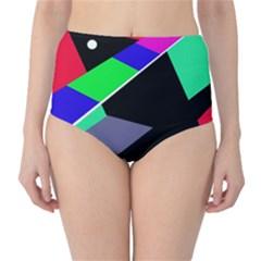 Abstract Fish High Waist Bikini Bottoms by Valentinaart