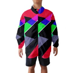 Abstract Fish Wind Breaker (kids) by Valentinaart