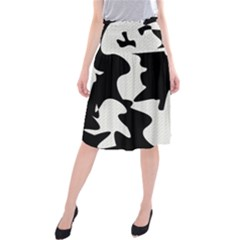 Black And White Elegant Design Midi Beach Skirt by Valentinaart