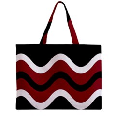 Decorative Waves Zipper Mini Tote Bag by Valentinaart