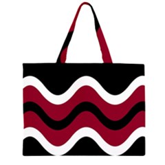 Decorative Waves Zipper Large Tote Bag by Valentinaart