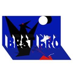 Night birds  BEST BRO 3D Greeting Card (8x4)  by Valentinaart