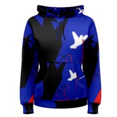 Night Birds  Women s Pullover Hoodie by Valentinaart