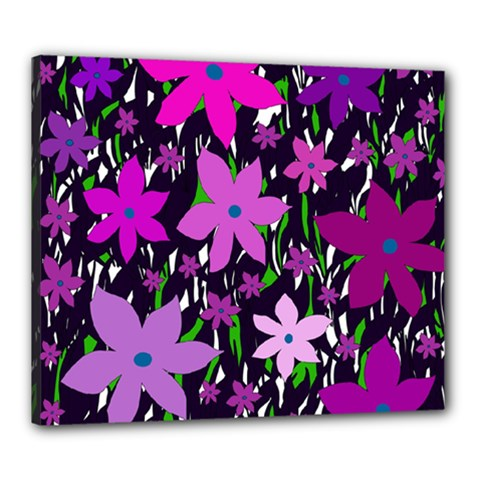 Purple Fowers Canvas 24  X 20