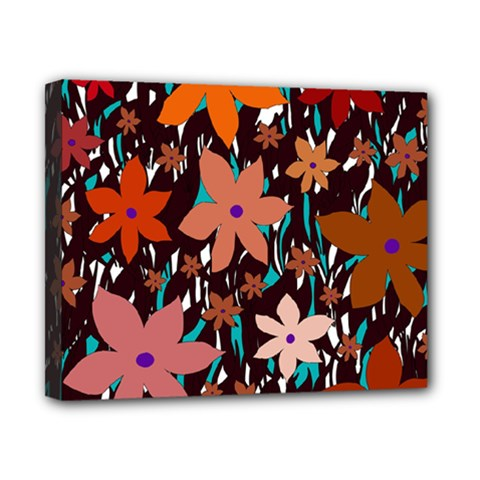 Orange Flowers  Canvas 10  X 8  by Valentinaart
