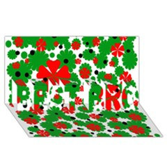 Red And Green Christmas Design  Best Bro 3d Greeting Card (8x4)  by Valentinaart