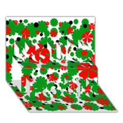 Red And Green Christmas Design  You Rock 3d Greeting Card (7x5)  by Valentinaart