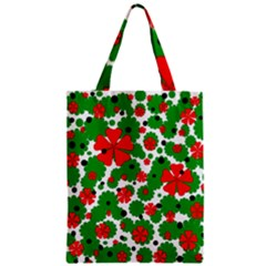 Red And Green Christmas Design  Zipper Classic Tote Bag by Valentinaart