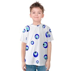 Mediterranean Blue Eyes Kid s Cotton Tee by Valentinaart