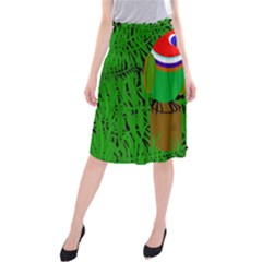 Toucan Midi Beach Skirt