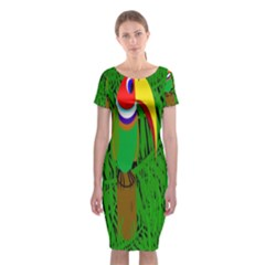 Toucan Classic Short Sleeve Midi Dress by Valentinaart