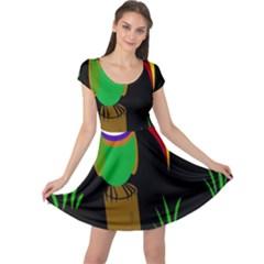 Toucan Cap Sleeve Dresses by Valentinaart