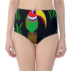 Toucan High Waist Bikini Bottoms by Valentinaart