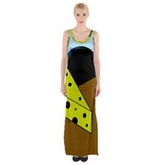 Cheese  Maxi Thigh Split Dress by Valentinaart