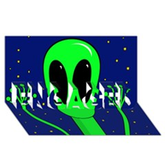 Alien  Engaged 3d Greeting Card (8x4)  by Valentinaart
