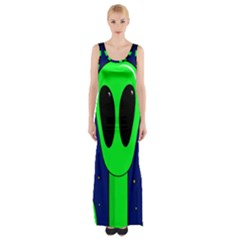 Alien  Maxi Thigh Split Dress by Valentinaart