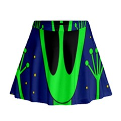 Alien  Mini Flare Skirt by Valentinaart
