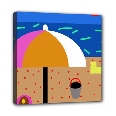 On The Beach  Mini Canvas 8  X 8  by Valentinaart