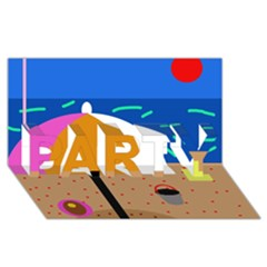 On The Beach  Party 3d Greeting Card (8x4)