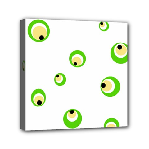 Green Eyes Mini Canvas 6  X 6  by Valentinaart