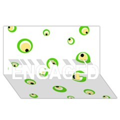 Green Eyes Engaged 3d Greeting Card (8x4)