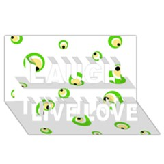 Green Eyes Laugh Live Love 3d Greeting Card (8x4)  by Valentinaart
