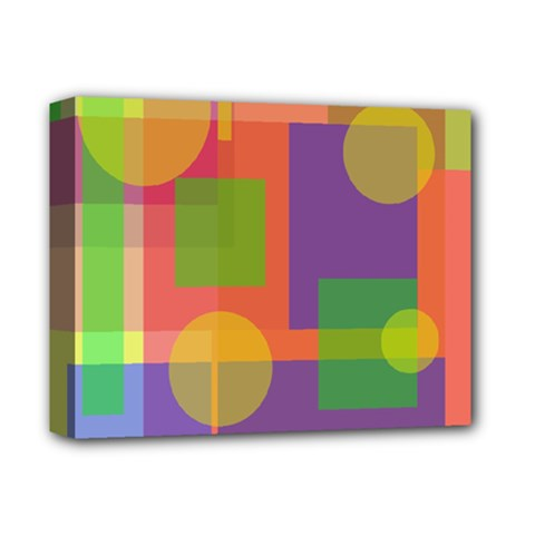 Colorful Geometrical Design Deluxe Canvas 14  X 11  by Valentinaart