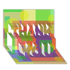 Colorful Geometrical Design Thank You 3d Greeting Card (7x5)  by Valentinaart