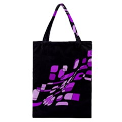 Purple Decorative Abstraction Classic Tote Bag by Valentinaart