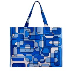 Blue Decorative Abstraction Zipper Mini Tote Bag