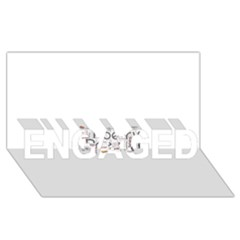 5004610 1817f Engaged 3d Greeting Card (8x4)  by jpcool1979